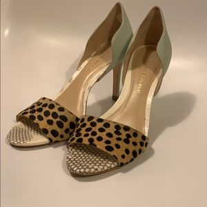 Loeffler Randall sz 8.5 open toe heel